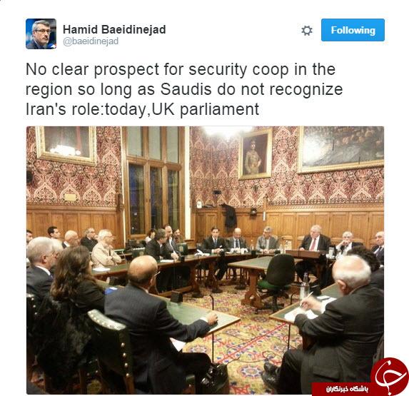 عربستان باید نقش ایران در منطقه را بپذیرد+توئیت