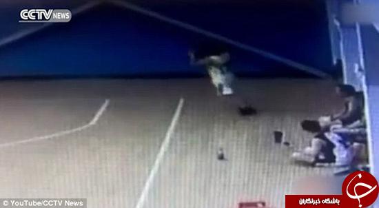 فرار بازیکن بسکتبال از مرگ را ببینید +تصاویر