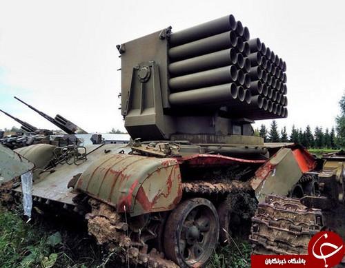 قبرستان مرموز تانکها در روسیه+تصاویر