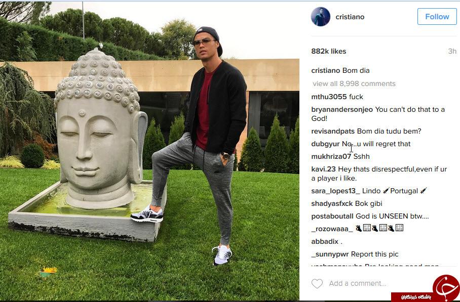 عکس رونالدو کنار یک مجسمه دردسرساز شد