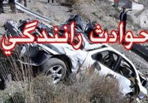 دو کشته و سه مجروح در واژگونی خودرو