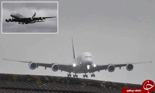 لحظات دلهره آور فرود هواپیمای Airbus A380+ فیلم