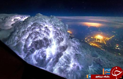 عکس/ زیباییهای منحصربفرد آسمان از زاویه دید کابین خلبان