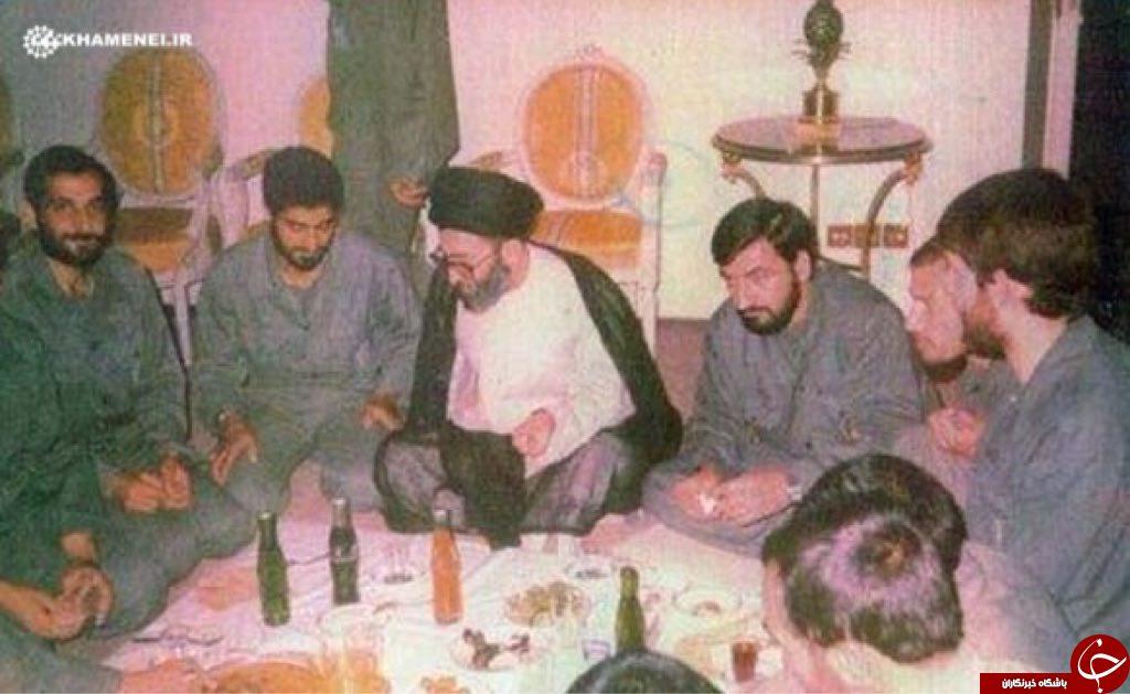 سردارسلیمانی و شهید باکری در کنار رهبر انقلاب+عکس