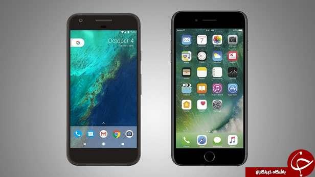 مقایسه  گوشی های  Google Pixel XL و iphone 7 Plus