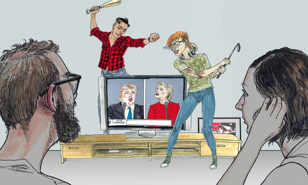 امروز در انتخابات آمریکا / از اشکهای قربانی جدید ترامپ تا کاریکاتور انتخاباتی گاردین
