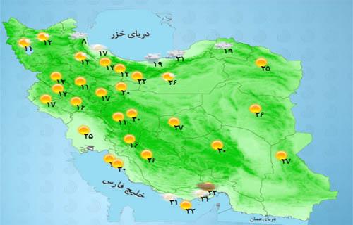 سرعت وزش باد در تهران به 45 کیلومتر برساعت می رسد