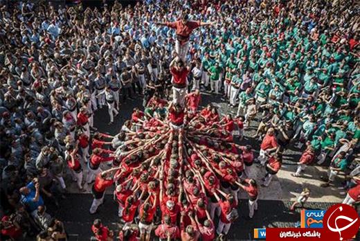 عکس/ جشنواره سنتی باشکوه در بارسلونا
