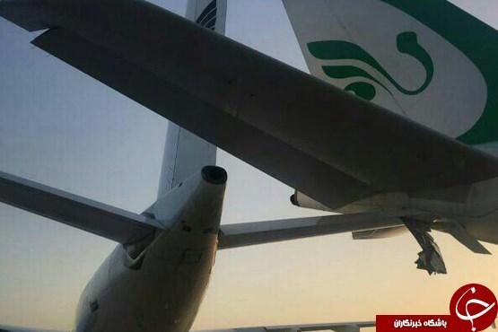 تصادف دو هواپیما در فرودگاه امام +عکس