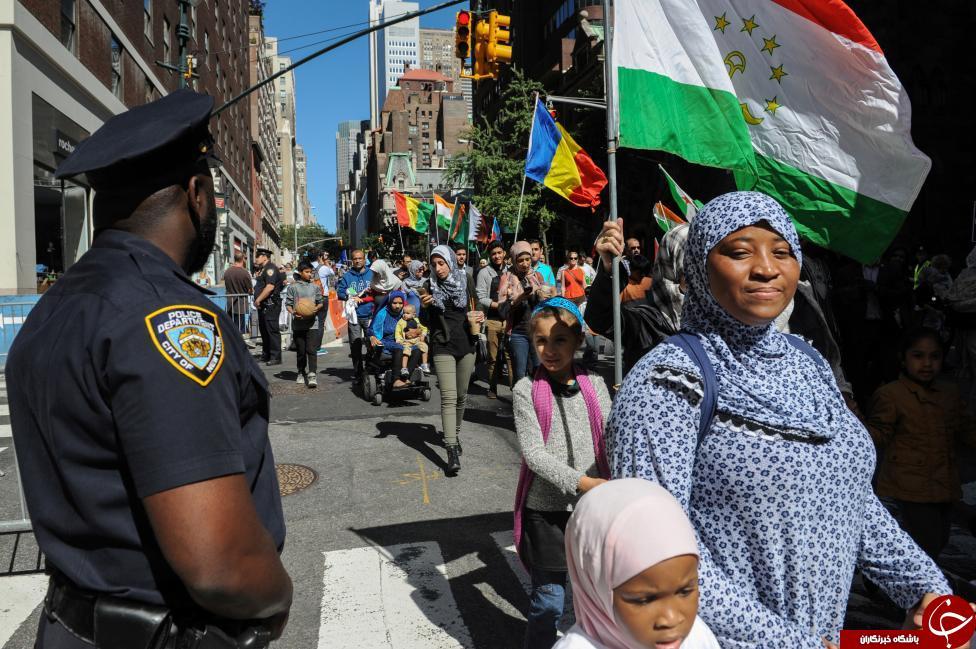 تصاویری از راهپیمایی مسلمانان آمریکا در