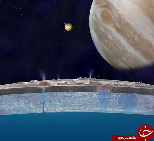 ناسا:در قمر مشتری موجودات زنده زندگی می کنند !