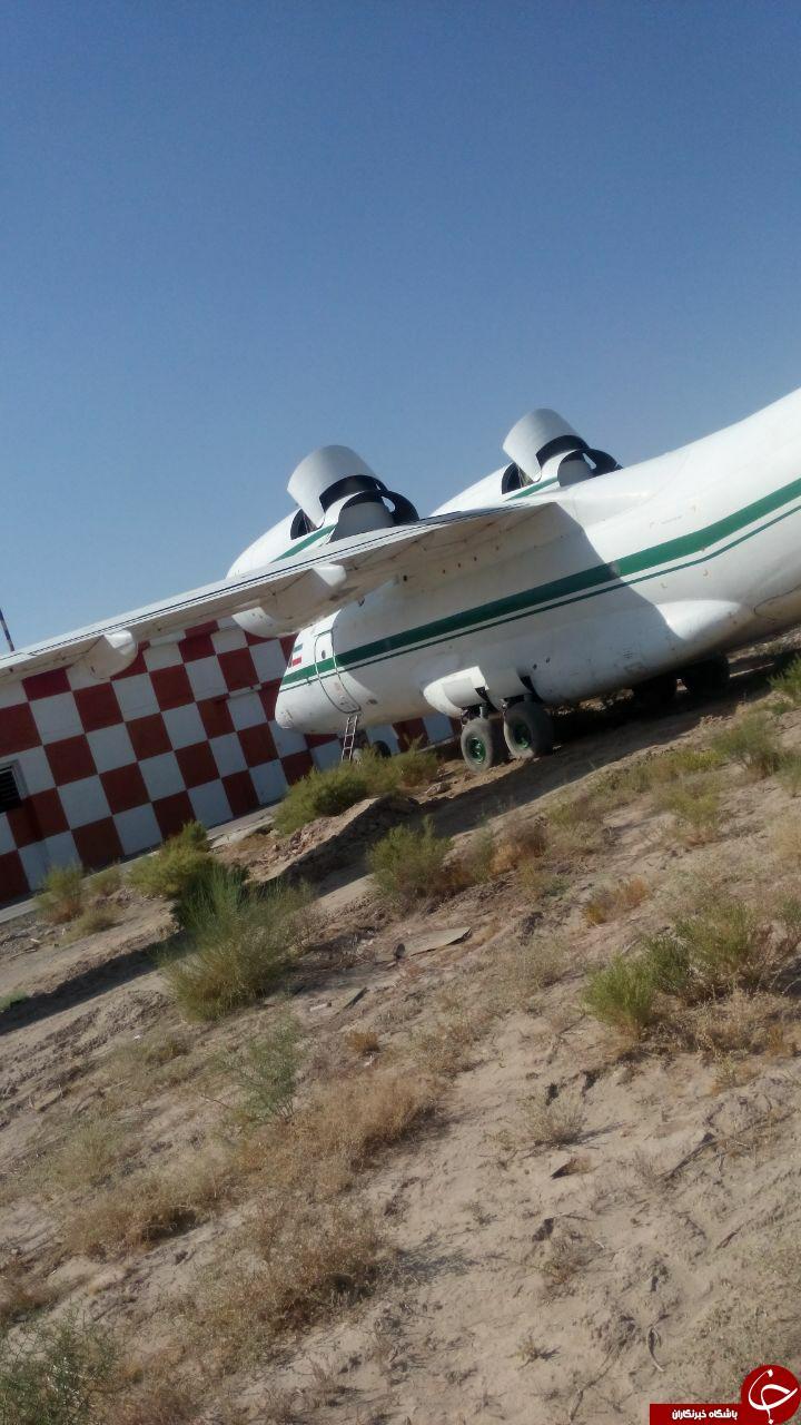 خروج هواپیما از باند فرودگاه! + تصاویر