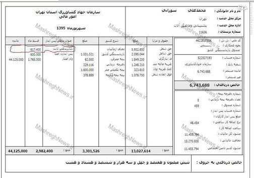 فیش حقوقی جانبازی که مسئولین «جهاد» همسرش را به گدایی تشویق کردند