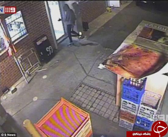 دزدی از پیتزا فروشی در روز هالووین +تصاویر