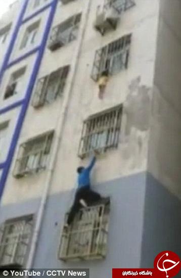 مرد عنکبوتی چینی، قهرمان شهر +تصاویر