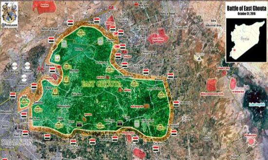 """شکست سنگین جیش الاسلام در """"غوطه شرقی"""" + نقشه و جزئیات"""