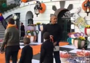 هالووین اوباما در کاخ سفید + فیلم