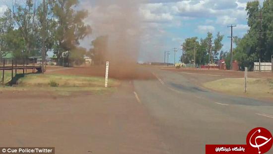 گردباد غیر منتظره ماشین پلیس را گرفت +تصاویر