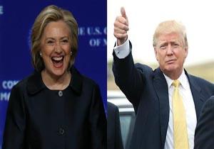 دست بالای ترامپ نسبت به کلینتون در چهار ایالت کلیدی