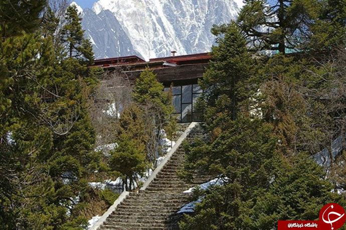 عکس/ هتلی در بلندترین قله دنیا