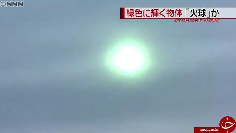 مشاهده شی پرنده ناشناس آتشین در آسمان ژاپن+فیلم