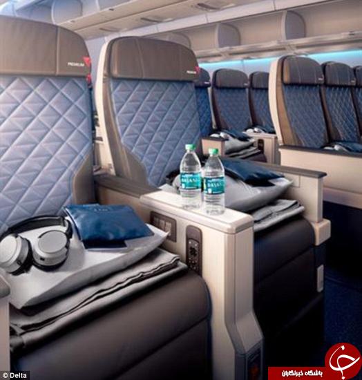 صندلیهای جدید این هواپیما خیلی راحتند +تصاویر