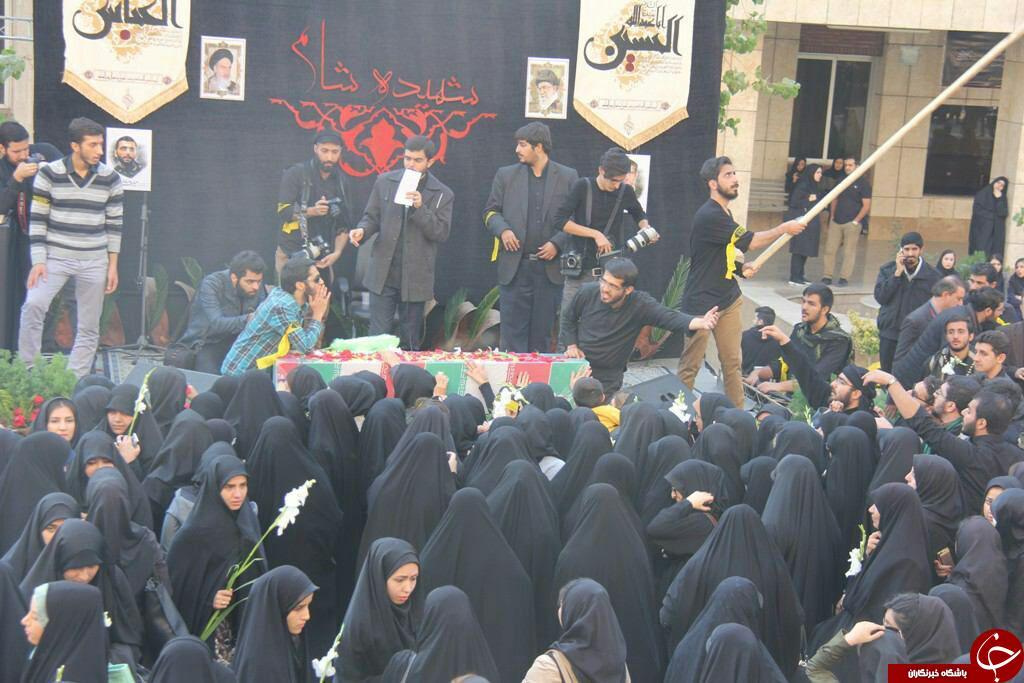 تشییع شهید گمنام در واحد تهران شمال + تصاویر