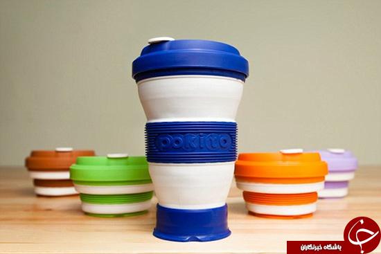 لیوانهای قهوهای که جمع میشوند به بازار میآیند +تصاویر