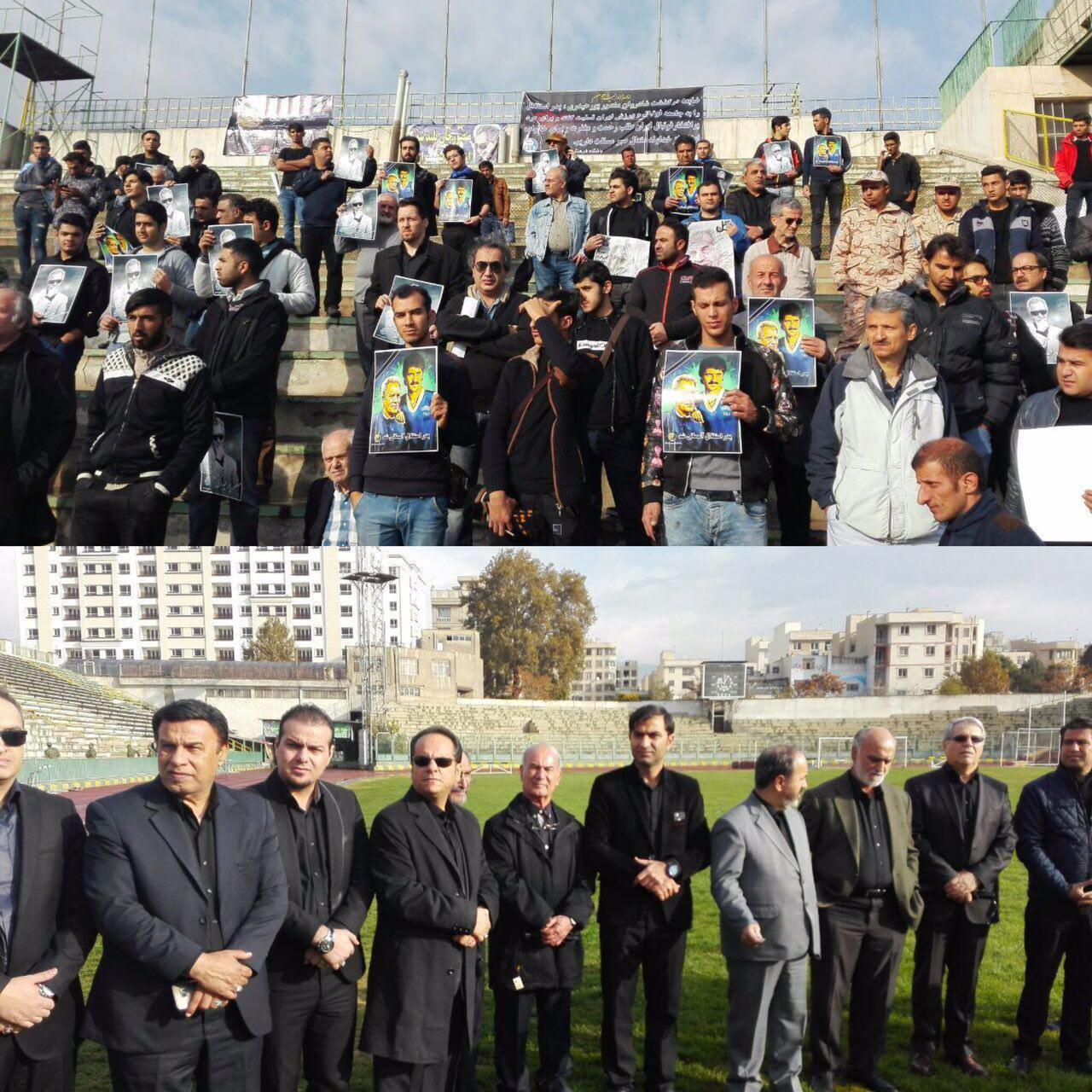 مراسم آخرین وداع با مرحوم پورحیدری به روایت تصویر