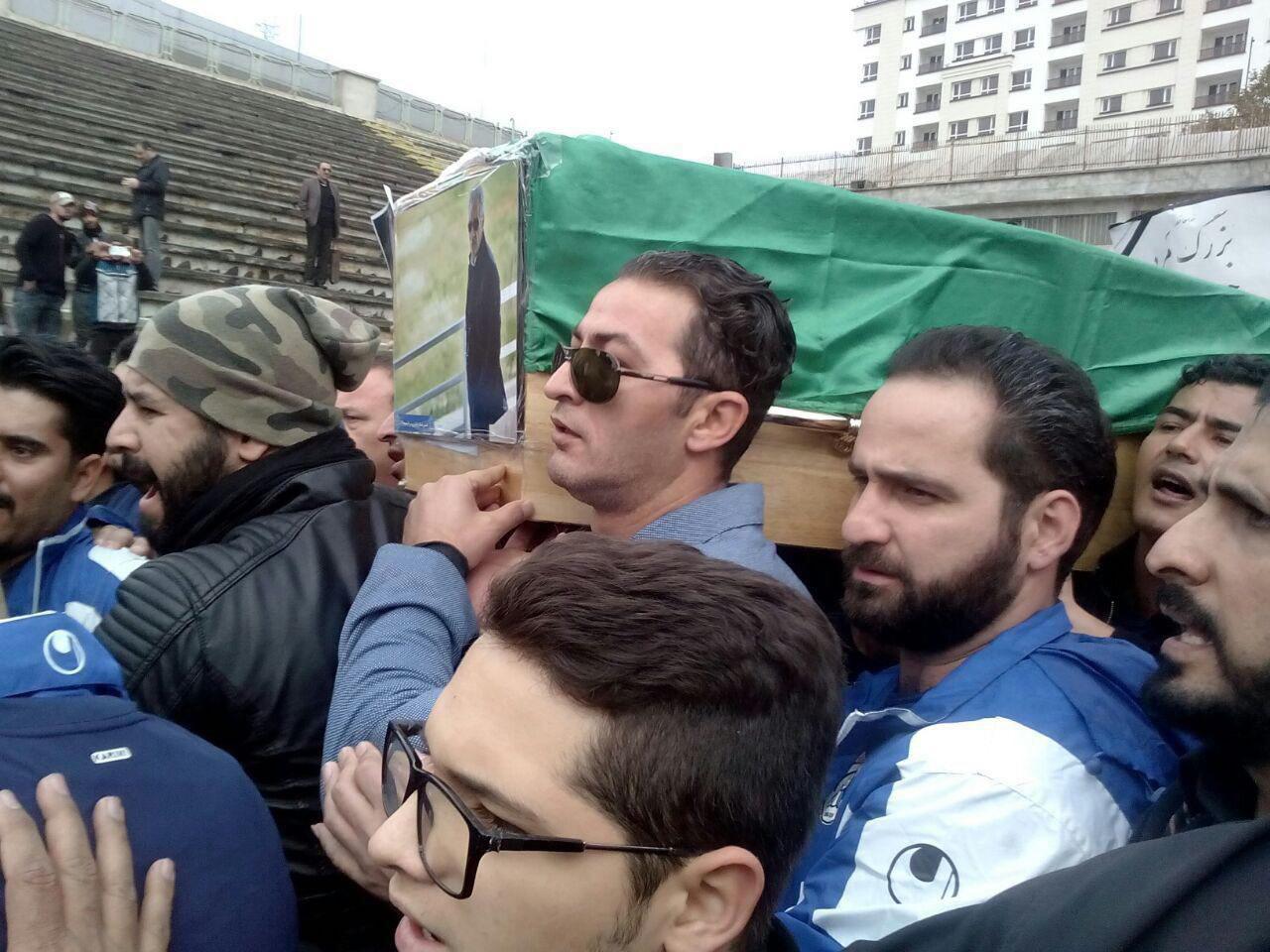 آخرین وداع با مرحوم پورحیدری به روایت تصویر+فیلم