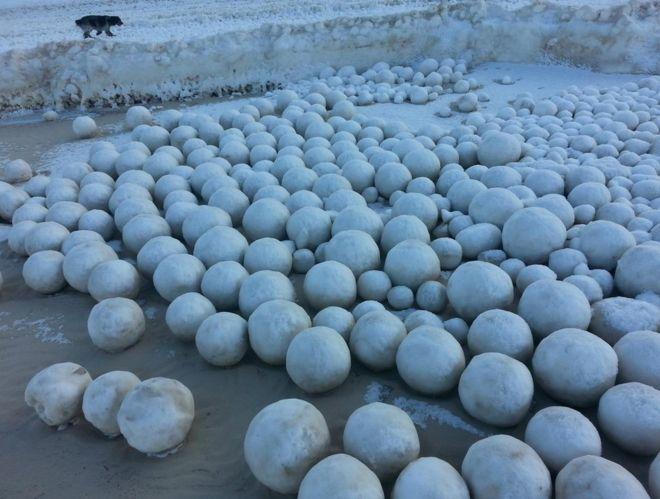 بارش دانههای یک متری برف در روسیه, دانه یک متری برف