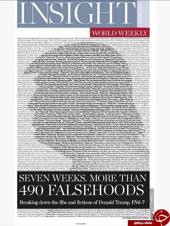 جمعآوری نزدیک به 500 دروغ ترامپ از سوی یک روزنامه کانادایی+ عکس