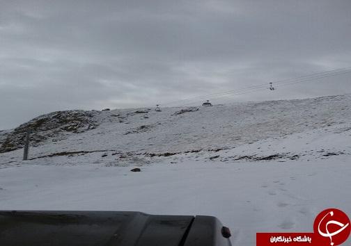 سفید پوش شدن ارتفاعات قزوین