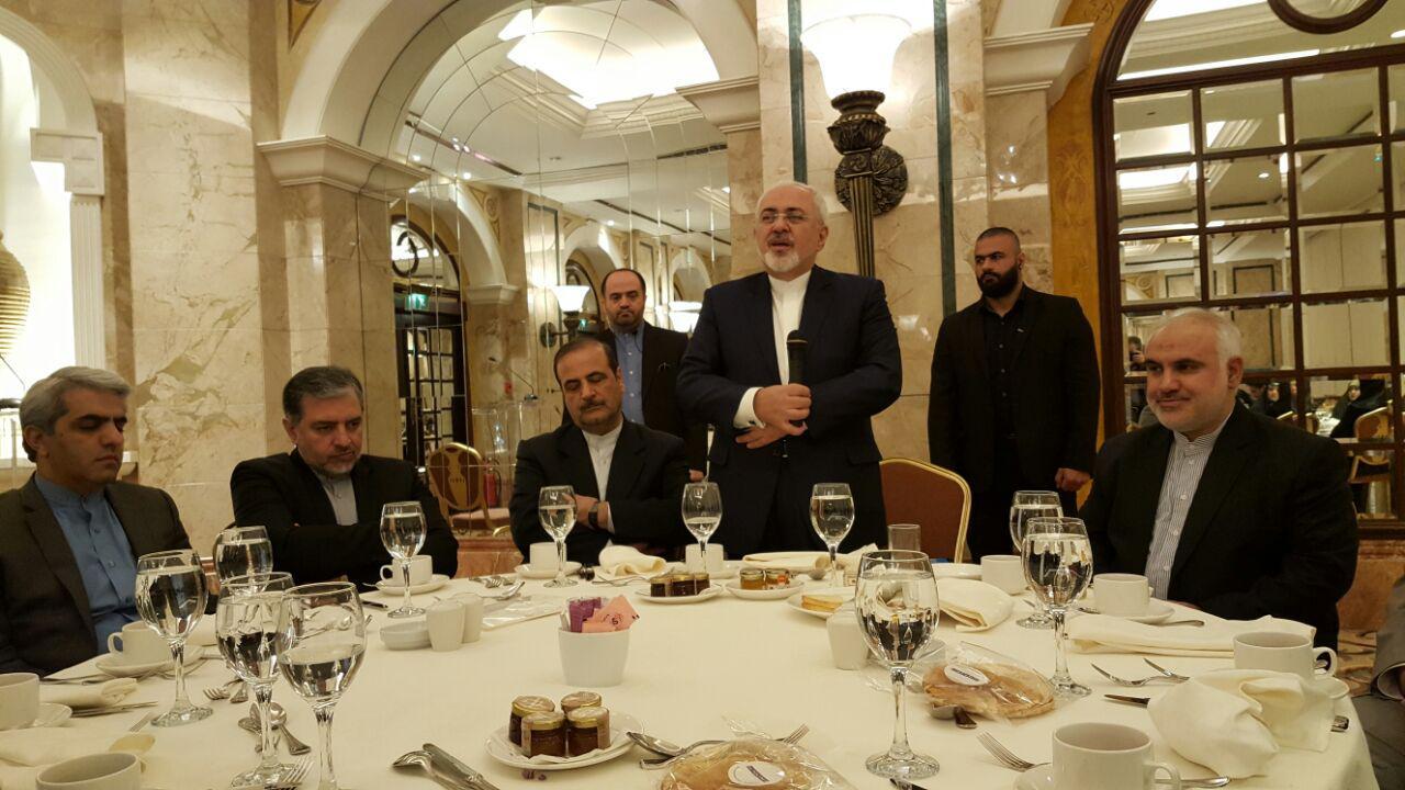 حضور ظریف در همایش فرصتهای اقتصادی ایران و لبنان