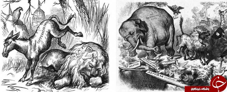 الاغ دموکراتها و فیل جمهوری خواهان از کجا آمده است؟