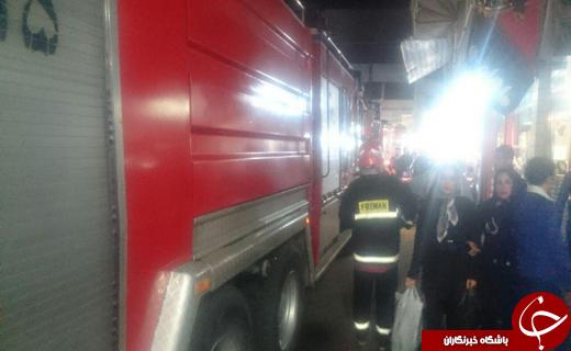 آتش سوزی در بازار رشت هم اکنون +تصاویر