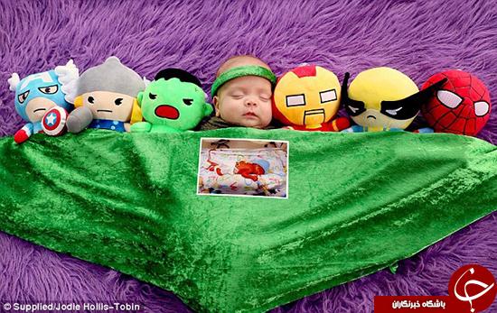 بچهای که در هنگام تولد کوچکتر از شیشه نوشابه بود +تصاویر