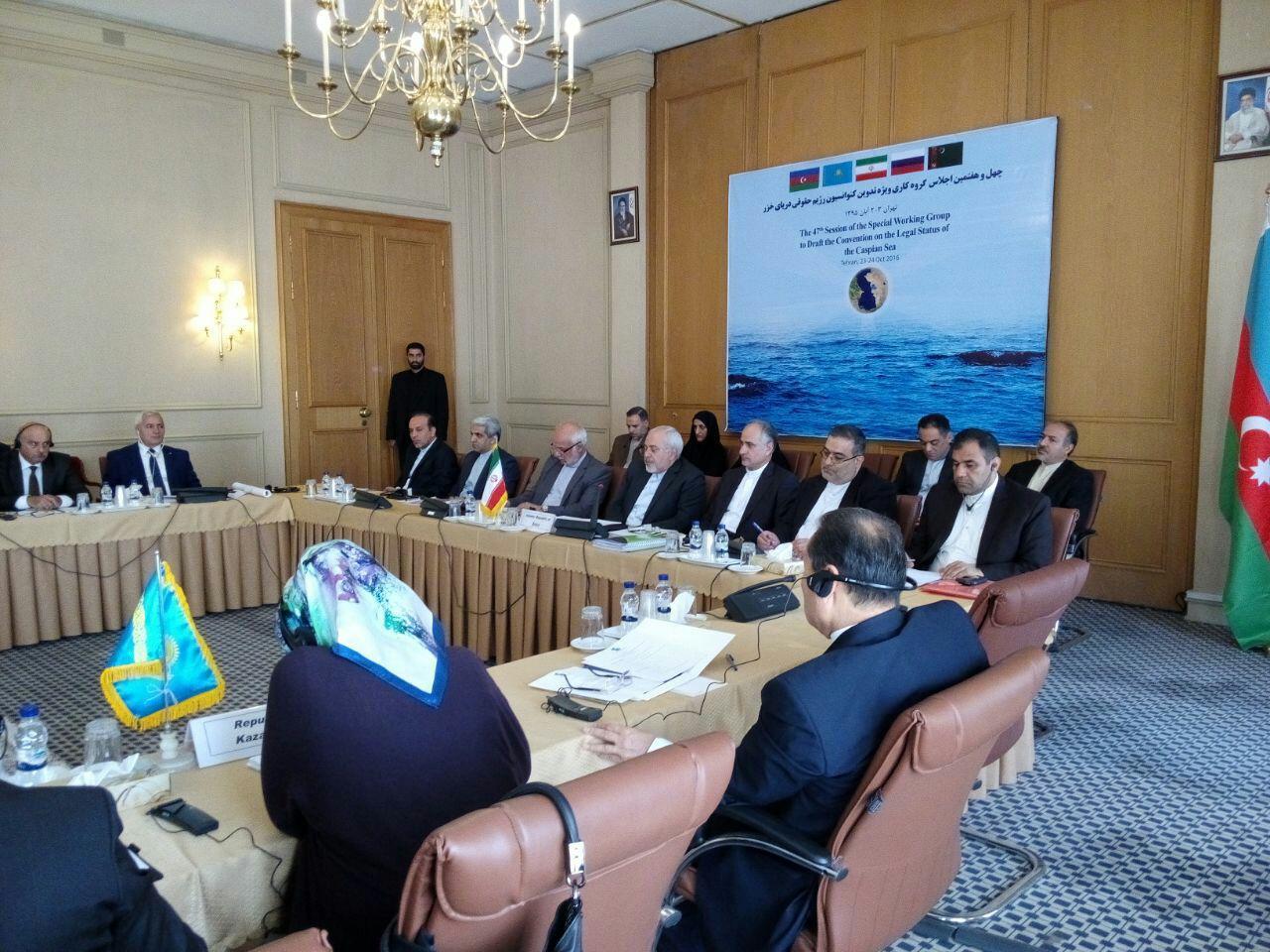 چهل و هفتمین اجلاس گروه کاری ویژه تدوین کنوانسیون رژیم حقوقی دریای خزر آغاز شد