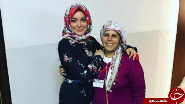 محجبه شدن بازیگر آمریکایی و دفاع وی از اردوغان+ تصاوير