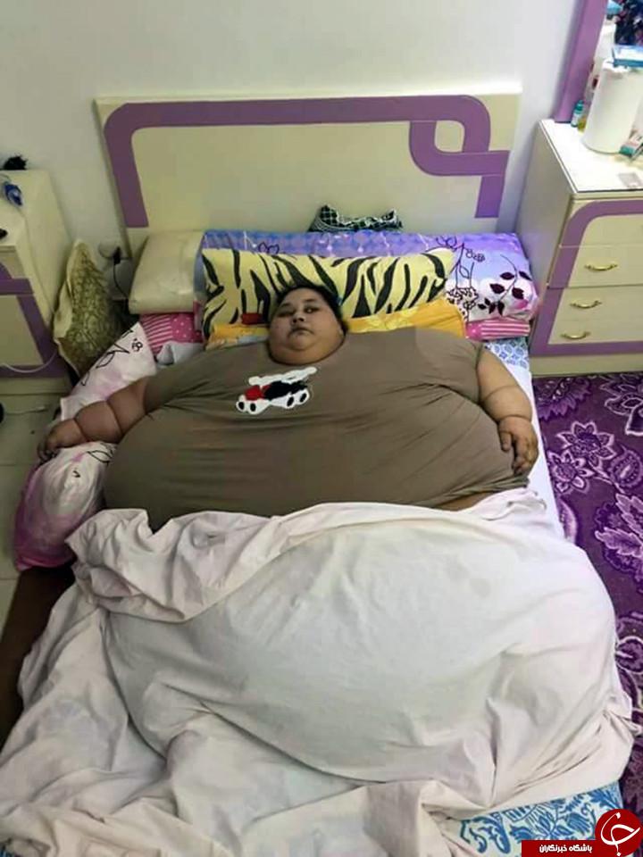 نام چاق ترین زن جهان در گینس ثبت شد+ تصاویر