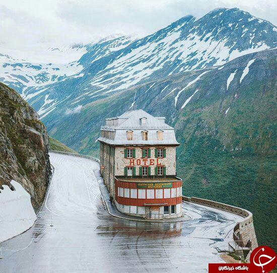 عجيب ترين هتل دنيا در كنار درهای خطرناك+ عكس