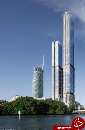 این برج فقط چند متر از ارتفاع پرواز هواپیماها کوتاهتر است +تصاویر