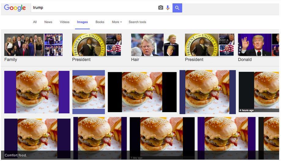 ترامپ را دوباره همبرگر کن! + عکس