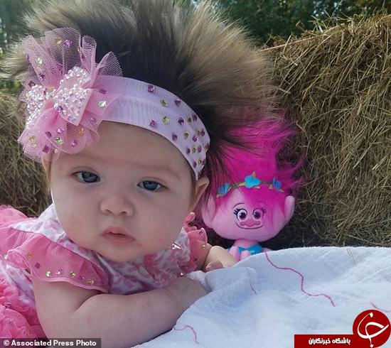 این بچه شبیه عروسک است +تصاویر