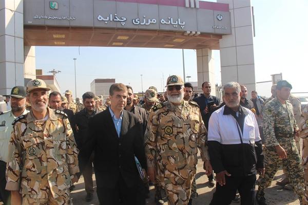 بازدید فرمانده نیروی زمینی ارتش جمهوری اسلامی ایران از مرز چذابه