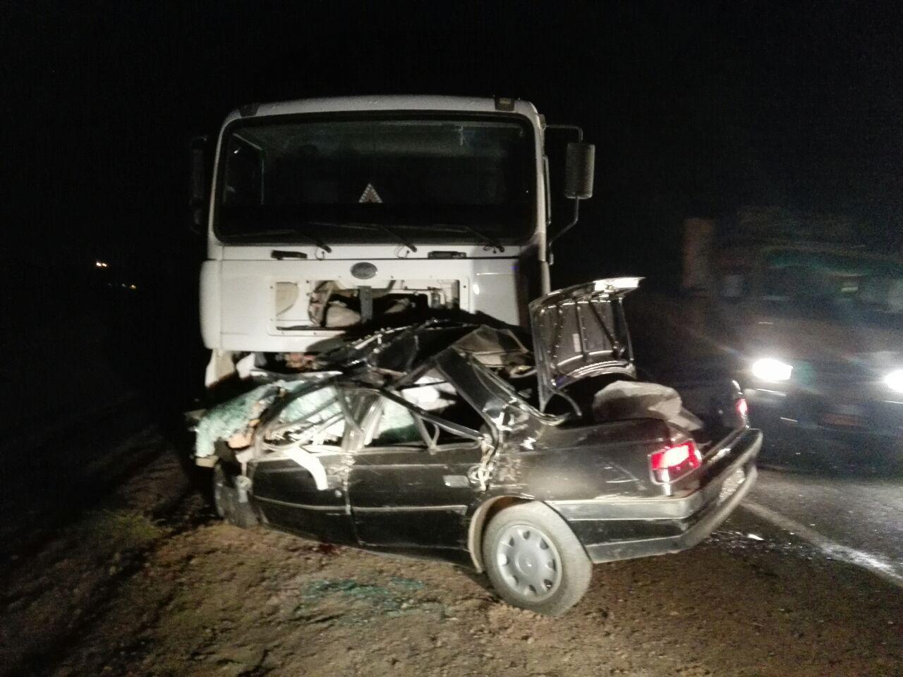 3 کشته و زخمی در تصادف محور قدیم ساوه -تهران +تصاویر