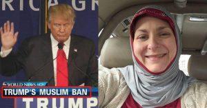 ترامپ این زن آمریکایی را مسلمان کرد