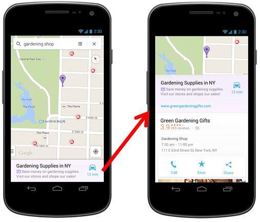 تبلیغات مراکز تجاری در نقشه گوگل