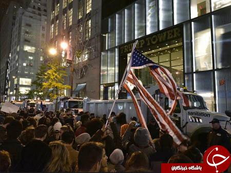 روز پنجم از اعتراضات به نتایج انتخابات ریاست جمهوری آمریکا/ پیوستن مهاجران به تظاهرات ضد ترامپ