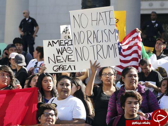 ادامه تظاهرات ضد ترامپ برای ششمین روز متوالی در آمریکا/ دانش آموزان به خیابانها آمدند